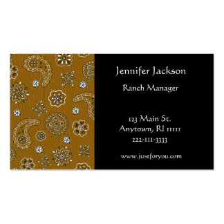 Brown Bandana Business Cards