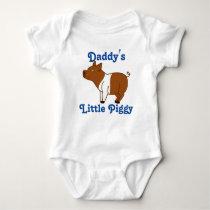 Brown Banded Pig Custom Kids Shirt - Blue Text
