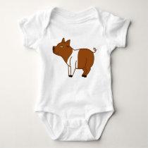 Brown Banded Pig Kids & Baby Shirt