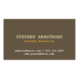 Brown bark simply modern professional executive Double-Sided standard business cards (Pack of 100)