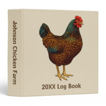 Brown Barnevelder Hen Chicken Binder