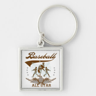 Brown Baseball All Star T-shirts and Gifts Keychain