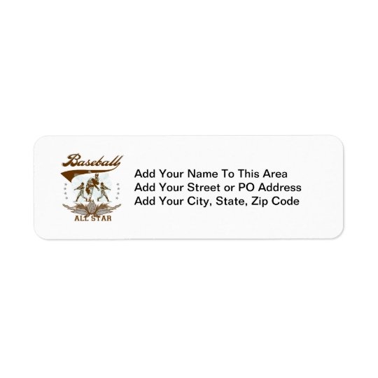 Brown Baseball All Star T-shirts and Gifts Label