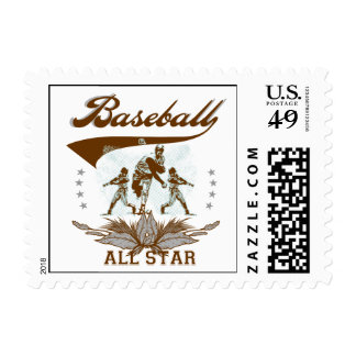 Brown Baseball All Star T-shirts and Gifts Stamp