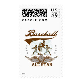 Brown Baseball All Star Tshirts and Gifts Postage