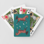Brown Bay Horse Pony Lover Art Playing Cards Poker