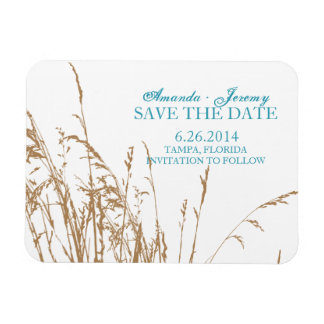 Brown Beach Sea Grass Save The Date Magnet