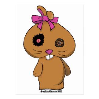 Brown BeanBag Bunny Postcard