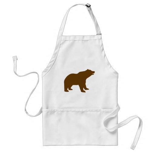 BROWN BEAR ADULT APRON