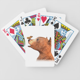 Brown Bear and Butterfly Bicycle Playing Cards