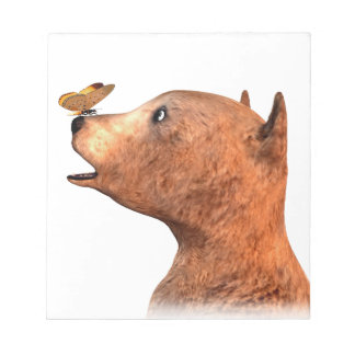 Brown Bear and Butterfly Note Pad