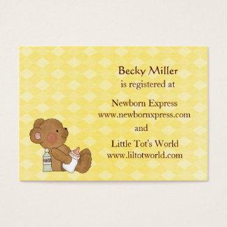 Brown Bear Baby Shower Registry Cards
