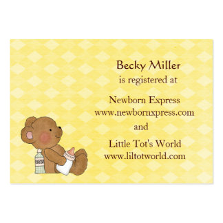 Brown Bear Baby Shower Registry Cards Business Card Templates