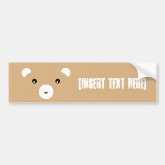 Brown Bear Car Bumper Sticker