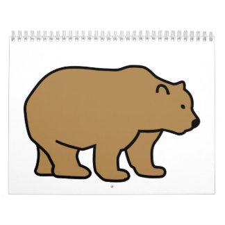 Brown bear calendar