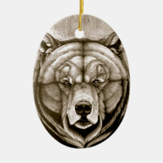 Brown Bear Ceramic Ornament