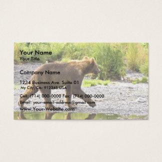 Brown bear cub business card
