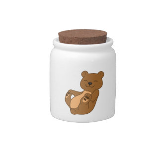 Brown Bear Cub Candy Dishes