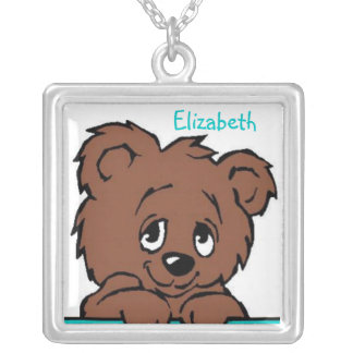 Brown Bear Cub Children's Personalized Necklace