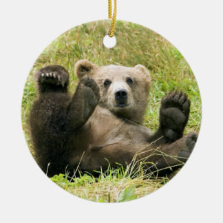 Brown Bear Cub Christmas Ornament