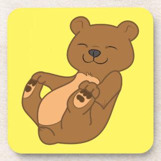 Brown Bear Cub Drink Coasters