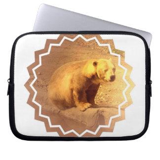 Brown Bear Cub Electronics Bag Laptop Sleeves