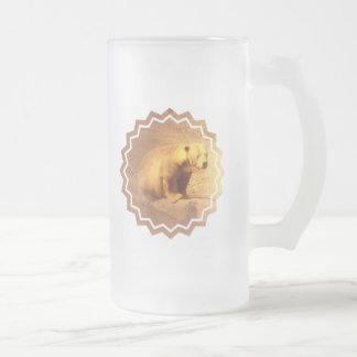 Brown Bear Cub Frosted Beer Mug