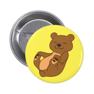 Brown Bear Cub Pinback Button