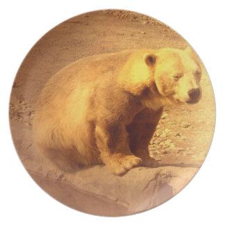 Brown Bear Cub Plate