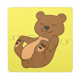 Brown Bear Cub Puzzle Coaster