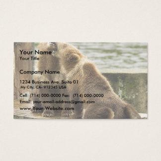 Brown bear cubs business card