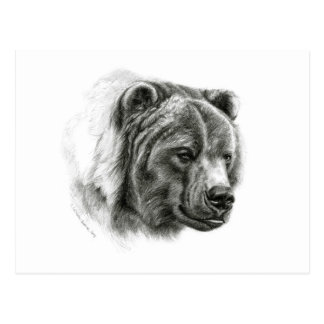 Brown Bear design by Schukina G054 Post Card