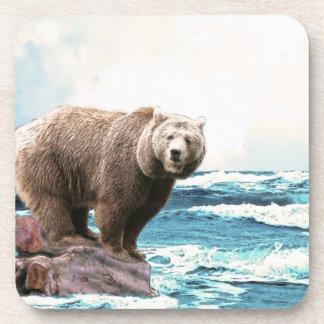 Brown Bear Explores the Ocean! Drink Coaster