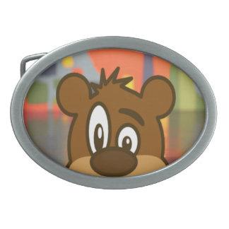 Brown Bear Face Belt Buckles