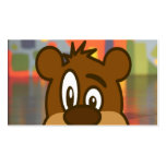Brown Bear Face Double-Sided Standard Business Cards (Pack Of 100)