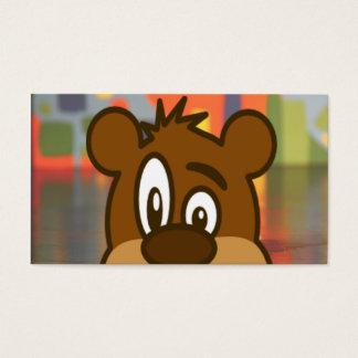 Brown Bear Face Business Card