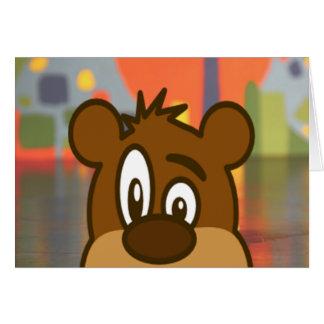 Brown Bear Face Card