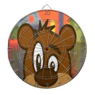 Brown Bear Face Dartboard With Darts