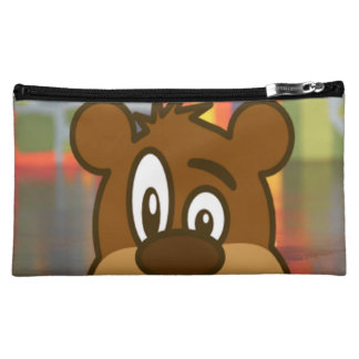 Brown Bear Face Makeup Bag