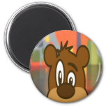 Brown Bear Face Refrigerator Magnets