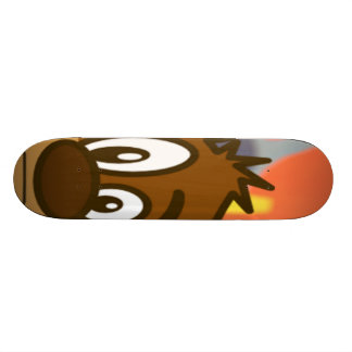 Brown Bear Face Skateboard Deck