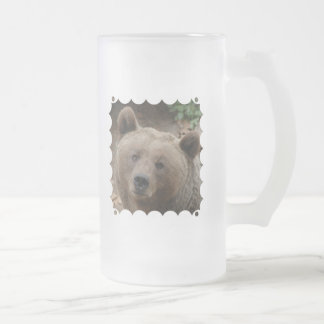 Brown Bear Frosted Beer Mug