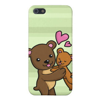 Brown bear hugging baby bear iPhone SE/5/5s cover