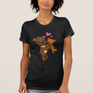 Brown bear hugging baby bear t-shirt