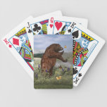 Brown Bear in a Field Bicycle Playing Cards