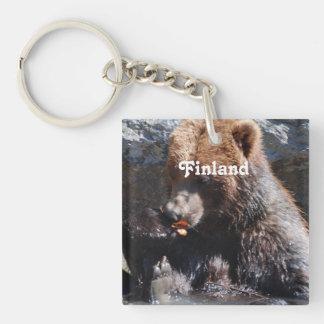Brown Bear in Finland Keychain