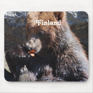 Brown Bear in Finland Mouse Pad