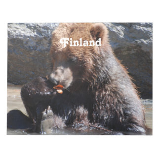 Brown Bear in Finland Notepad