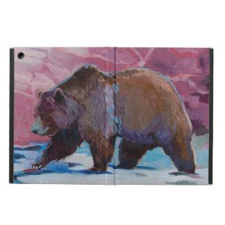 Brown Bear in Utah, Walking by the Rocks iPad Air Cover