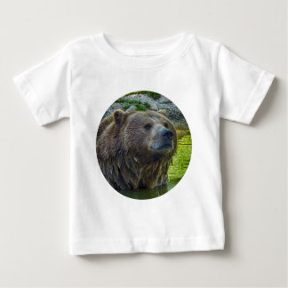 Brown bear in water 002 02.1rd baby T-Shirt